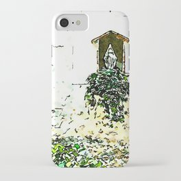 Barbarano Romano: votive shrine with house number iPhone Case
