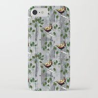 tits iPhone & iPod Cases featuring Crested Tits by LindaWinegum