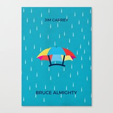 Bruce Almighty Minimalist Poster Canvas Print