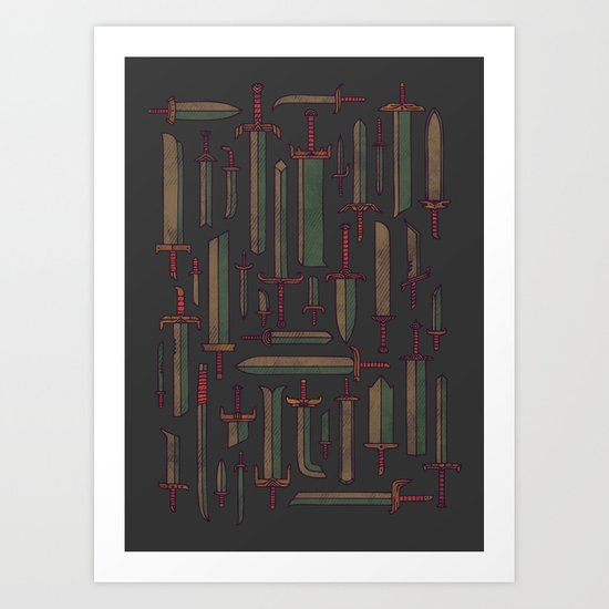 Bunch of Blades Art Print