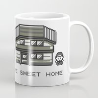 home sweet home Mugs featuring Home Sweet Home  by Zeke Tucker