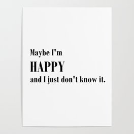 Maybe I'm happy - Ally McBeal Collection Poster