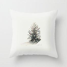 Pinecone Watercolor Throw Pillow