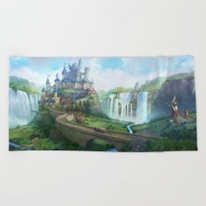 epic fantasy castle  Beach Towel