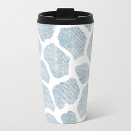 Chambray denim giraffe camo Travel Mug