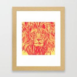 Vintage Bamboo Lion Print Framed Art Print