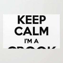 I cant keep calm I am a CROOK Rug