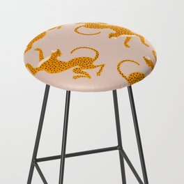 Leopard Race - pink Bar Stool