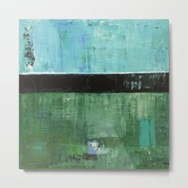 Sky Blue Sky Contemporary Abstract Landscape McNulty Metal Print