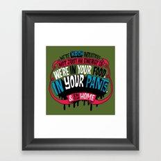Koch In Your Pants Framed Art Print