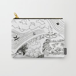 Wanderlust Series - Whale Carry-All Pouch