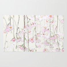 pink cherry blossom Rug