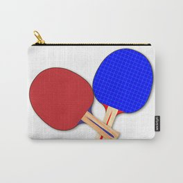 Two Table Tennis Bats Carry-All Pouch