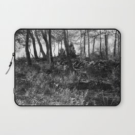 Black and white country wicked forest Laptop Sleeve