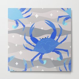Blue Crabs Metal Print