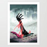 teen titans Art Prints featuring Teen Titans - Lurking Evil  by NOTCHCOMICS