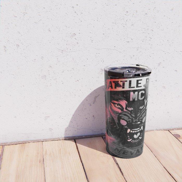 Battle Born MC- Red Wolf Logo Travel Mug