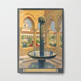 Monreale, Palermo (Italy) - Vintage Poster Metal Print