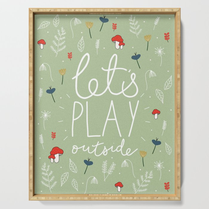 Let's Play Outside Serving Tray