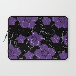 Purple Blooms Laptop Sleeve
