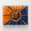 Hunab Ku Mayan symbol Orange and Blue by k9printart