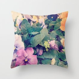 Photo Flower Throw Pillow