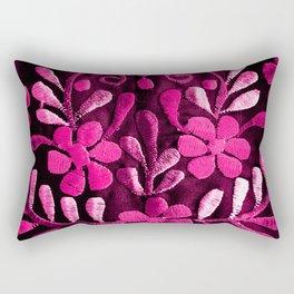Hot Pink Mexican Flowers Rectangular Pillow