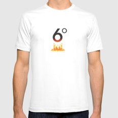 6 degrees White MEDIUM Mens Fitted Tee
