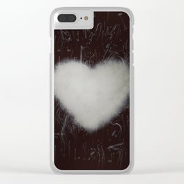Handle with care b/n Clear iPhone Case