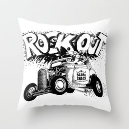 Rock Out!!! Throw Pillow