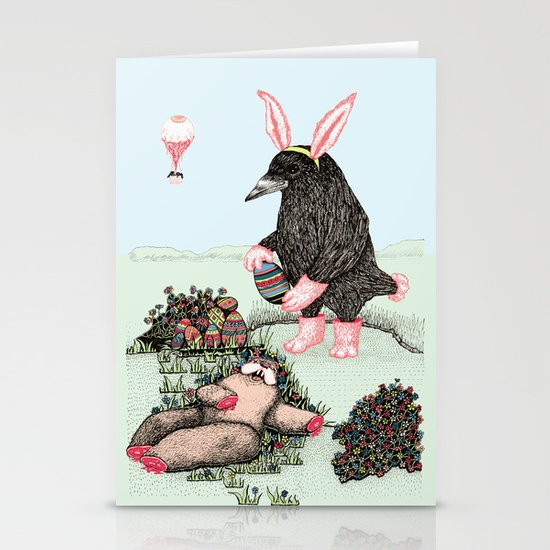 Crow Serie :: Easter Crow Stationery Cards