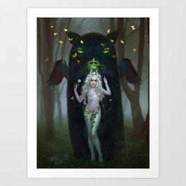 Satyress and Forest Spirit Art Print