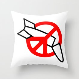 Stop War Throw Pillow