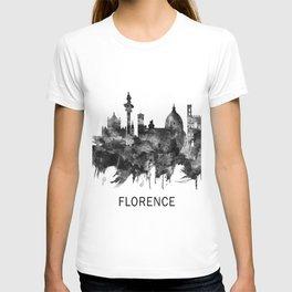 Florence Italy Skyline BW T-shirt