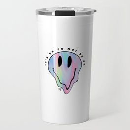 It's OK to NOT Be OK Smiley - Holographic Travel Mug
