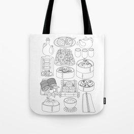 Sunday Dim Sum - Line Art Tote Bag