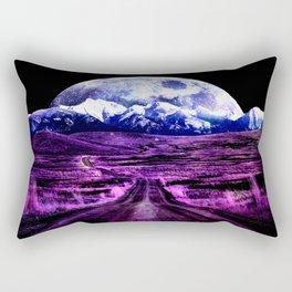 Highway to Eternity (moon mountain) Fuchsia Rectangular Pillow