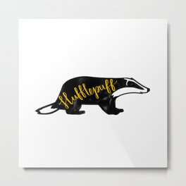 Hufflepuff Badger Metal Print