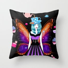 The TeaTime Fairy Throw Pillow