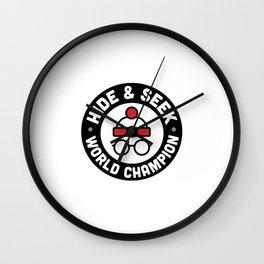 Hide & Seek Champ new Wall Clock