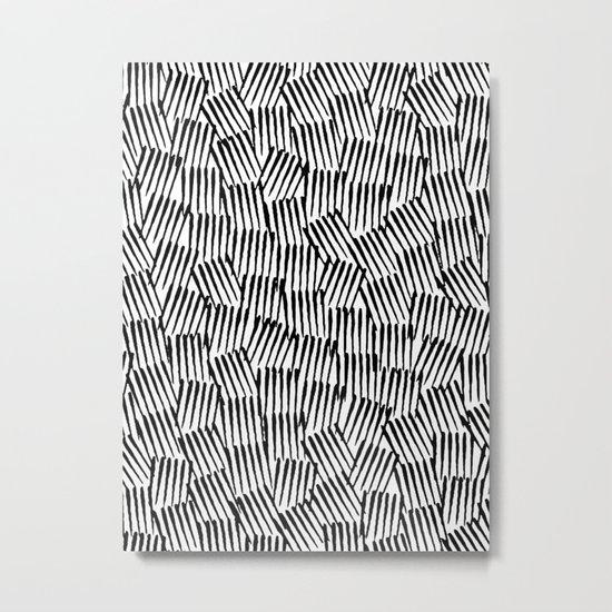 Crosshatched yourself Metal Print