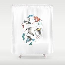 Birdwatching Shower Curtain