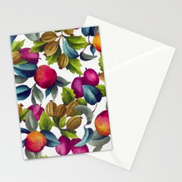 Watercolor Fruit Stationery Cards