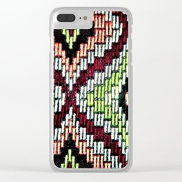 Bargello hourglass -  does anyone really know what time it is? Clear iPhone Case