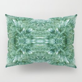 Abstract Kaleidoscope Green Mineral Crystal Texture Pillow Sham