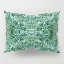 Abstract Kaleidoscope Green Mineral Crystal Texture Pillow Sham