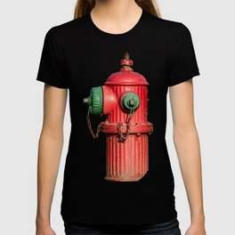 Profile of Fluted TCIW Fire Hydrant Traverse City Iron Works Fireplug T-shirt