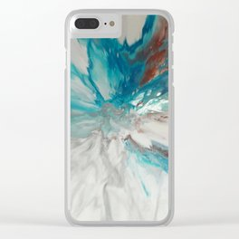 Blown Away - Abstract Acrylic Art by Fluid Nature Clear iPhone Case