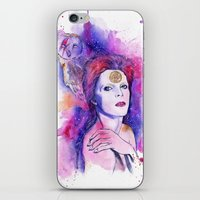bowie iPhone & iPod Skins featuring Bowie by Kinko-White