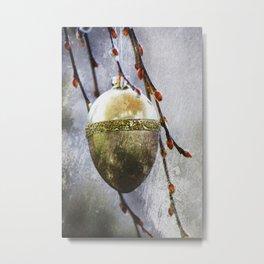 Golden easter egg Metal Print